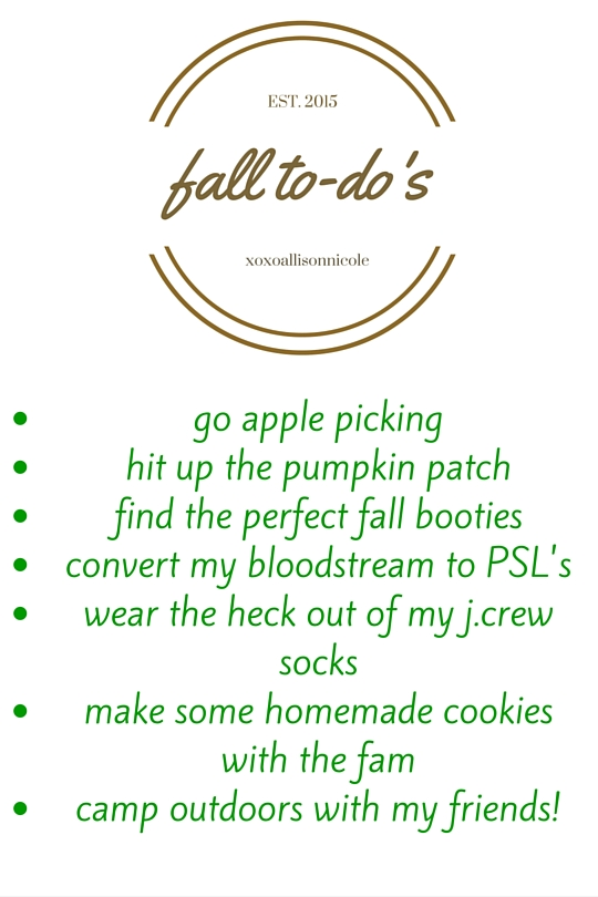 fall to-do's